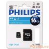 Philips 16GB microSDHC Class10 + adapterrel