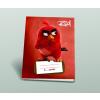 Angry Birds Iskolai füzet, kockás [27-32], A5, 32 lap, ANGRY BIRDS MOVIE - Red