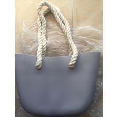MyBag női szilikon táska sötétszürke színű (Natur kötél)