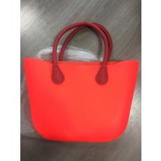 MyBag női szilikon táska piros színű, bordó fül