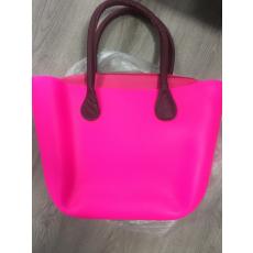 MyBag női szilikon táska Pink színű, bordó fül