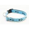 Sokdog kék, tappancsmintás nyakörv L