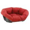 Ferplast Sofa 2 fekhely + piros kockás párnával