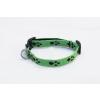 Sokdog zöld, tappancsmintás nyakörv M