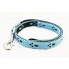 Sokdog kék, tappancsmintás póráz 120cm