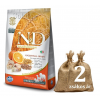 NATURAL&DELICIOUS N&D Low Grain Adult Med. tőkehal, narancs 2*12kg