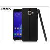 IMAK Samsung A710F Galaxy A7 (2016) hátlap képernyővédő fóliával - IMAK Vega Leather - fekete