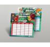 Angry Birds Órarend, kétoldalas, közepes, 175x165 mm, ANGRY BIRDS MOVIE órarend