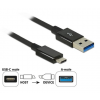 DELOCK Cable SuperSpeed USB 10 Gbps (USB 3.1 Gen 2) USB Type- C > USB Type-A (1 m, koaxiális,...