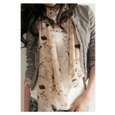 Trendi női bézs színű kendő