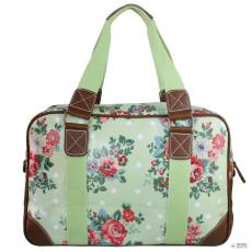 Miss Lulu London L1106F - Miss Lulu Oilcloth utazó táska virágos Dot zöld