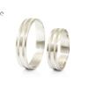 Vésett sávos fehérarany karikagyűrű