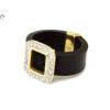 Köves kaucsukos női arany gyűrű