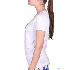 EmporioArmani Női Rövid ujjú T Shirt WOMANS KNIT JERSEY NATURAL