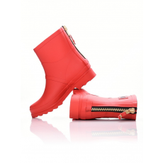 Dorko RED COLOR ANKLE BOOT WITH ZIPPER GUMICSIZMA