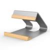 ROCK Tablet Tartó Állvány Aluminium ( Lakozott Fa ) Ergonómikus - Kompakt - Kis méret