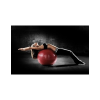 SKLZ Stability Ball (55cm) - Light Gray (with dual action pump)