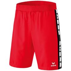 Erima 5-CUBES Shorts piros/fekete rövidnadrág