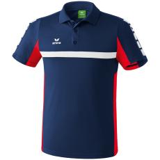 Erima 5-CUBES Polo-Shirt sötétkék/piros galléros poló