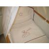 Babaágynemű garnitúra 3 részes - Hímzett bordó csillagfüzéres maci