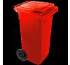 Háztartási szemetes kuka piros 120 L (11911) szemetes