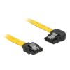 DELOCK Cable SATA 6 Gb/s left/straight metal 70cm (82826)