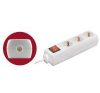 Home szerelhető földelt elosztó kapcsolóval (NV 03K) hosszabbító, elosztó