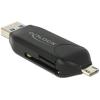 DELOCK USB OTG SD/MicroSD kártyaolvasó