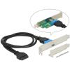 DELOCK USB 3.0 pinheader 19pin -> USB Type-C F/F hátlapi kivezetés 0.45m Low Profile