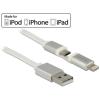 DELOCK USB-adat- és hálózati kábel Apple és Micro USB 1 m készülékekhez fehér