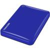 Toshiba Külső HDD 2.5' - 500GB Canvio Connect II Kék (USB3.0, ~5Gbps, NTFS/HFS+, fényes, 10 GB Cloud Storage)