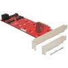 DELOCK PCI-E x1 3 portos M.2 NGFF IO vezérlő