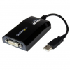 Startech USB A -> DVI-I M/F adapter 0.15m PC and MAC fekete