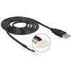 DELOCK USB A -> SMT 5pin M/F adatkábel 1.5m (camera V5) fekete