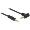 DELOCK Jack stereo 3,5mm (4pin) M/M audio kábel 5m egyenes/90° fekete