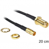 DELOCK SMA -> MCX M/M antenna kábel 0.2m fekete