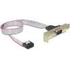 DELOCK Serial pinheader Serial RS-232 hátlapi kivezetés (low profile)