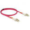 DELOCK LC M/M optikai fiber kábel 10m Multimode OM4 piros