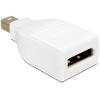 DELOCK Displayport mini 1.2 -> Displayport 1.2 M/F adapter fehér