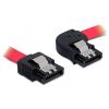DELOCK SATA F/F adatkábel 0.3m jobb/egyenes piros