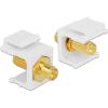 DELOCK RP-SMA F/F Keystone modul fehér