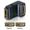 DELOCK HDMI F/F adapter 90°-os fekete