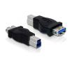 DELOCK USB 3.0 B -> USB 3.0 A M/F adapter fekete
