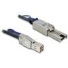 DELOCK SAS mini SFF-8644 -> SAS mini SFF-8088 M/M adatkábel 2m fekete