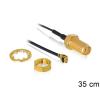 DELOCK SMA -> MHF/U.FL M/F antenna kábel 0.35m U.FL-LP-088 fekete