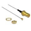 DELOCK RP-SMA -> MHF/U.FL M/F antenna kábel 0.2m ezüst