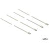 DELOCK Rozsdamentes acél kábelkötegelők, 350 x 4,6 mm (H x Sz), 20 darab