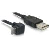 DELOCK USB A -> USB micro A M/M adatkábel 3m 90° fekete
