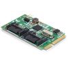 DELOCK mini PCI-E x1 - 2 portos SATA3 IO vezérlő