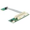DELOCK mini PCI-E x1 -> PCI Riser card (5V, 13cm flexibilis kábel, bal)